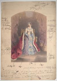 [Eglinton Tournament] [Authentic Costume of Lady Seymour, Queen of Beauty, as She appeared at the Tournament.
