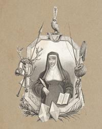 [Lady Juliana Berners in her Costume as Prioress of Sopewell Nunnery near St Albans.