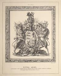 Royal Arms, as Executed in the Carved Wood supplied by The Patent Wood Carving Company,