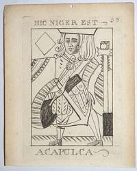 [Eight satires as playing cards.]