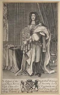 The Effigies of the Right Hon.ble Heneage Lord Finch, Baron of Daventry, Lord High Chancellor of England, &one of the Lords of the most Hon.ble Privy Councell, o King Charles ye. Second Anno Dni: 1676.