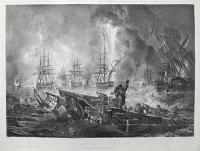 To the British Navy, This Print representing The Battle of Navarino, is respectfully dedicated by the Publisher.