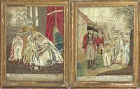 [Pair of embroideries of the Sons of Tipu Sultan] Tippoo Saibs Two Sons taking leave of Their Mother