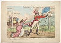 Militia galantry - or The Soldiers cowardly retreat to save his Bacon; at the expence of his fair Inamorata.