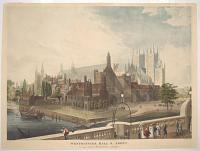 Westminster Hall and Abbey, as seen from Westminster Bridge.