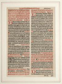 [Leaf from a breviary, use of Sarum.]
