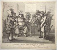 Falstaff at Justice Shallow's Mustering his Recruits. Vide, Second part of Henry IV, Act 3, Sc.3.