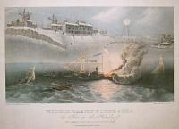 The London Stream Ship of London & Hull On Fire in the Humber. Off Cleathorps early in the morning of the 20th Decr. 1835.