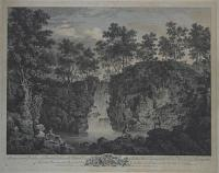 A View in Craven Yorkshire, of a Beautiful & Romantic Cascade in Bolton Park, belonging to the Rt. Hon.ble the Earl of Burlington. To Whom this plate is most humbly Insrib'd by his Lordships most dutiful & most Obedt. Servt. F.Vivares.