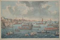 A View of Gravesend in Kent with Troops passing the Thames to Tilbury Fort.