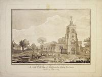 A North West View of Walthamstow Church by London.