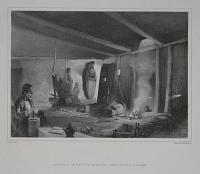Interior Of The Chief's House At The Kurdish Village Of Espindar.