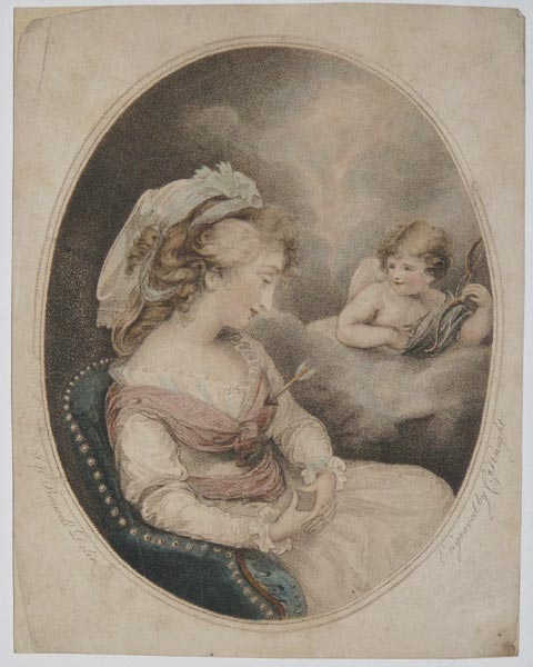 [A woman and cupid.]