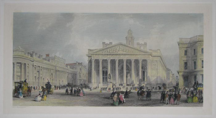 [The Royal Exchange and the Bank of England.]