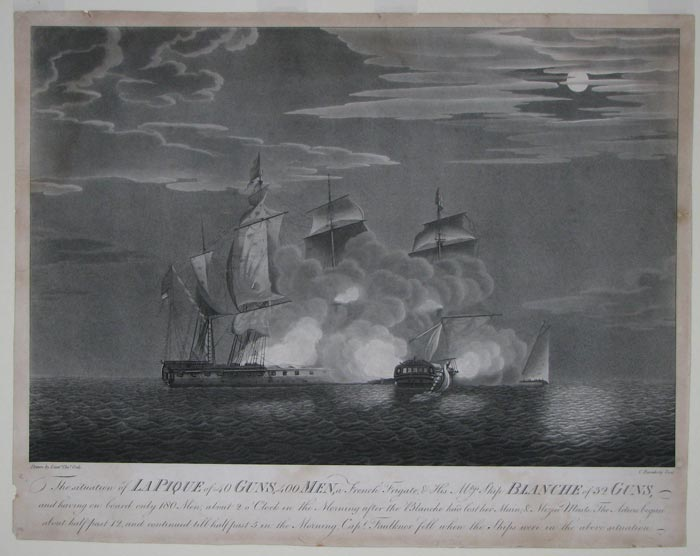 The situation of La Pique of 40 Guns, 400 Men, a French Frigate, & His Mtys Ship Blanche of 32 Guns,