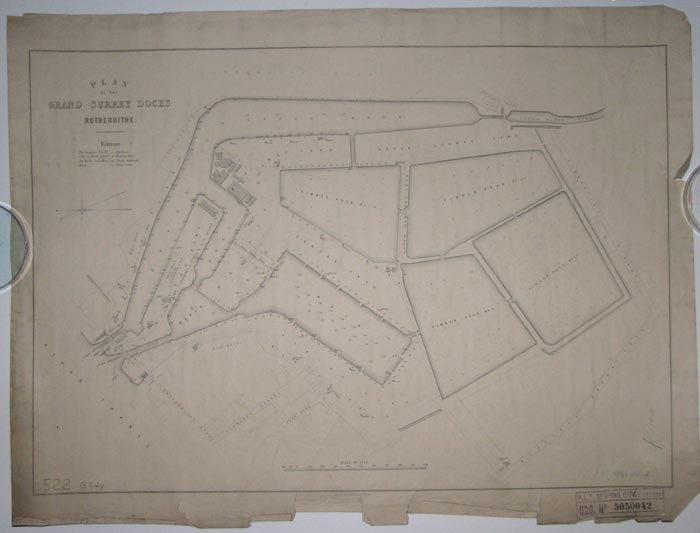 Plan of the Grand Surrey Docks Rotherhithe.