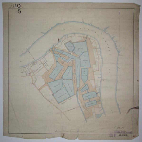 [Manuscript map of the proposed expansion of Surrey Commercial  Docks. 1863]