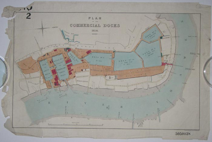 Plan of the Commercial  Docks 1858.