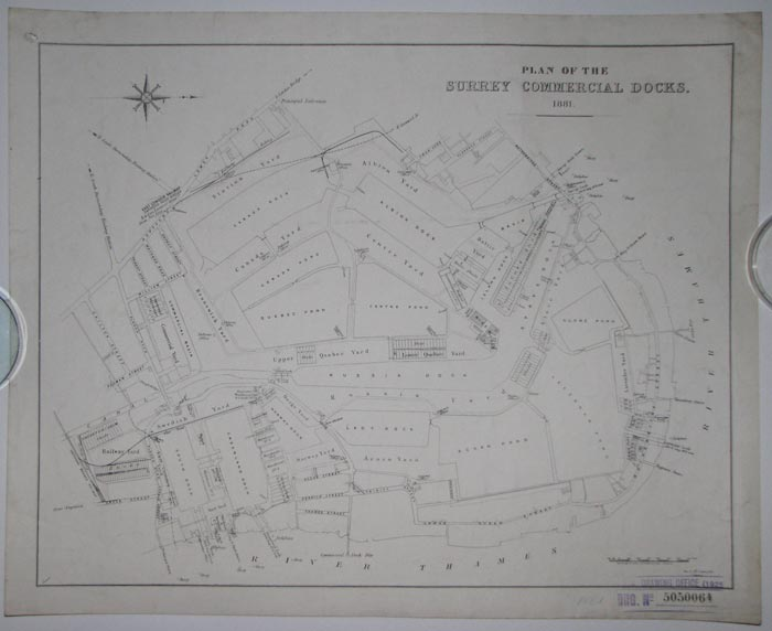 Plan of the Surrey Commercial  Docks. 1881.