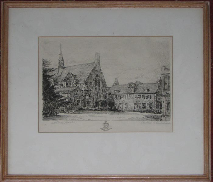 The Hall Charterhouse [in pencil lower right.]