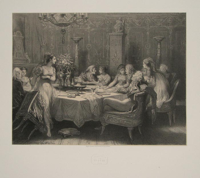 [A dinner party.]