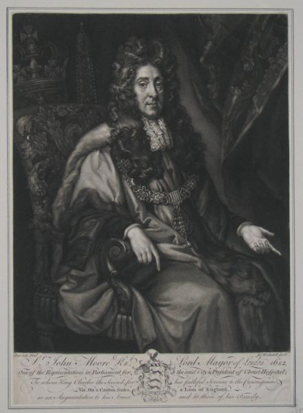 S.r John Moore Kn.t, Lord Mayor of London 1682,