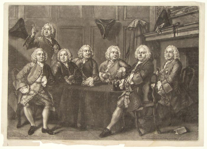 A well known Society of Worthy Aldermen from an Original Painting by T. Hudson in Goldsmith's Hall London.