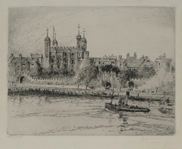 Tower of London [pencil, lower left.]