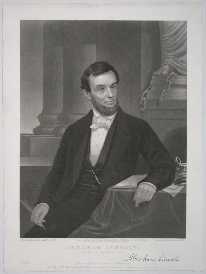Abraham Lincoln, President of the United States.  [With signature facsimile.]