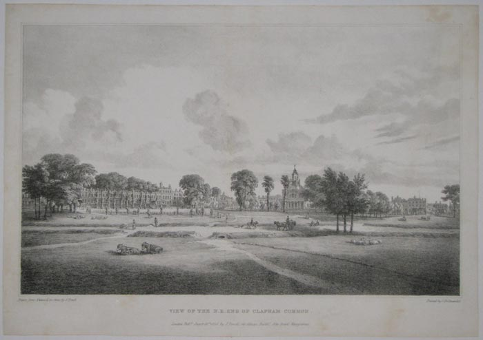 View Of The N.E. End Of Clapham Common.