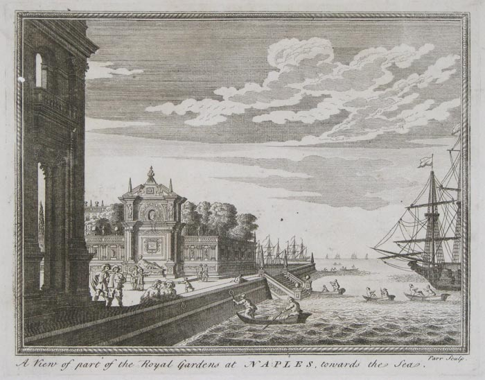 A View of part of the Royal Gardens at Naples, towards the Sea.