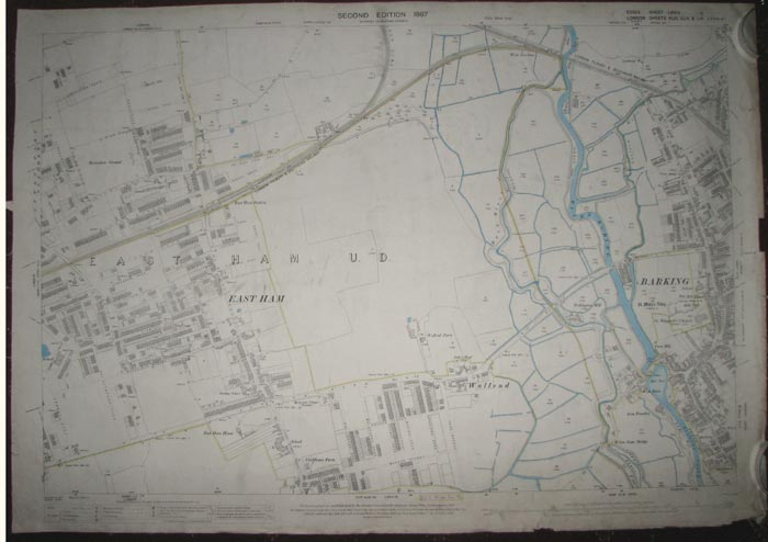 [East Ham & Barking.] London. Sheets XLIII, XLIV & LIV (parts of)