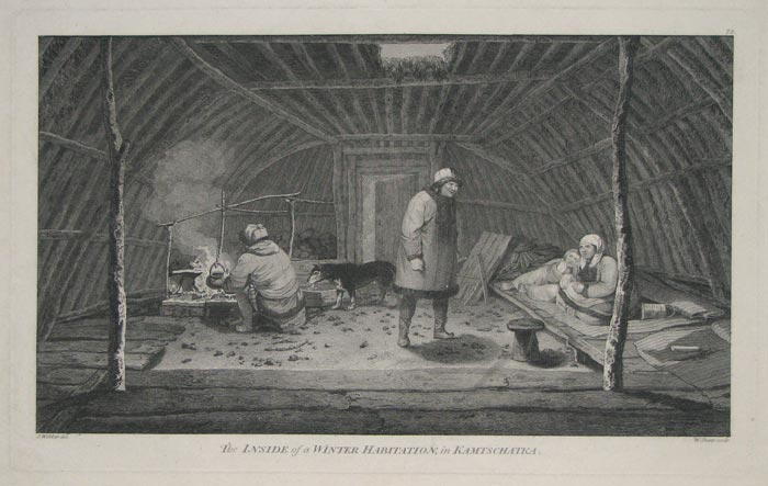 The Inside of a Winter Habitation, in Kamtschatka.