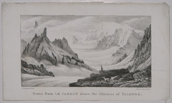 Scene from Le Jardin above the Glaciers of Talefre.