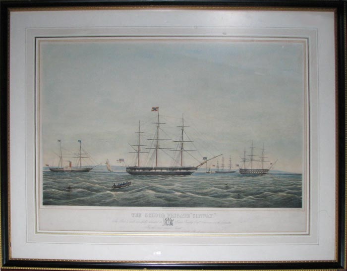 The School Frigate Conway. This Print is most respectfully dedicated to James Beazley Esqr., Chairman and the Committee By their most obedient Servant Digby B. Morton.