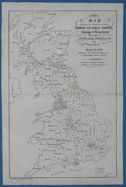 Map Shewing the situation of each Roman Catholic Chapel, College & Seminary Throughout England, Scotland, And Wales.