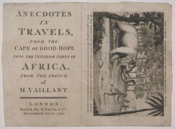 Anecdotes in Travels, from the Cape of Good Hope into the interior parts of Africa.