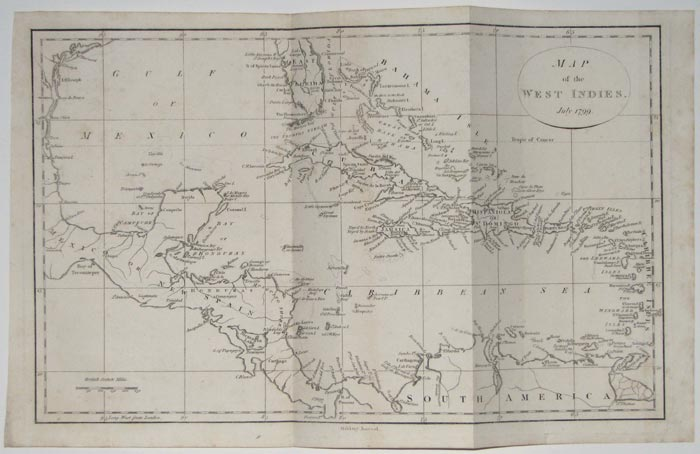 Map of the West Indies. July 1799.