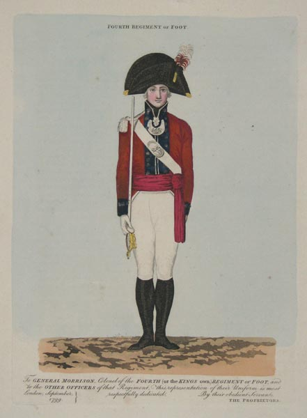 Fourth Regiment of Foot.