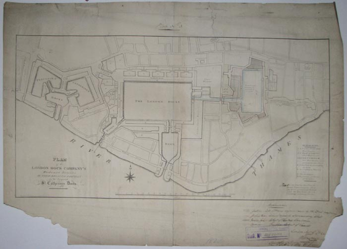 Plan of the London Dock Company's Works and Premises in their relative position to the Proposed St. Catherine's Docks.