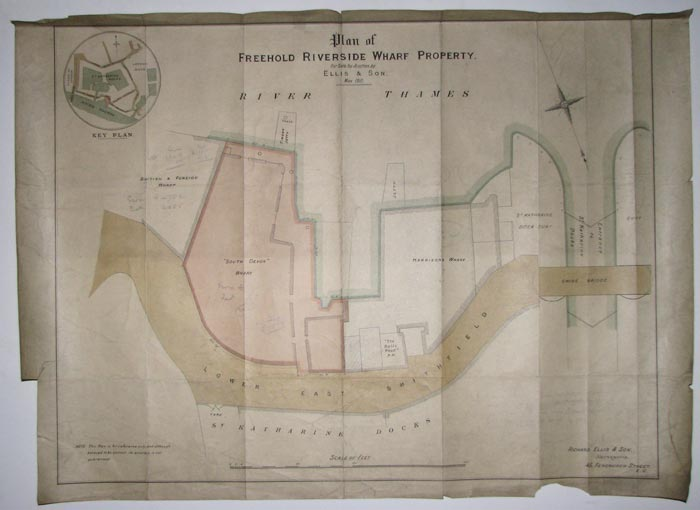 Plan of Freehold Riverside Wharf Property.