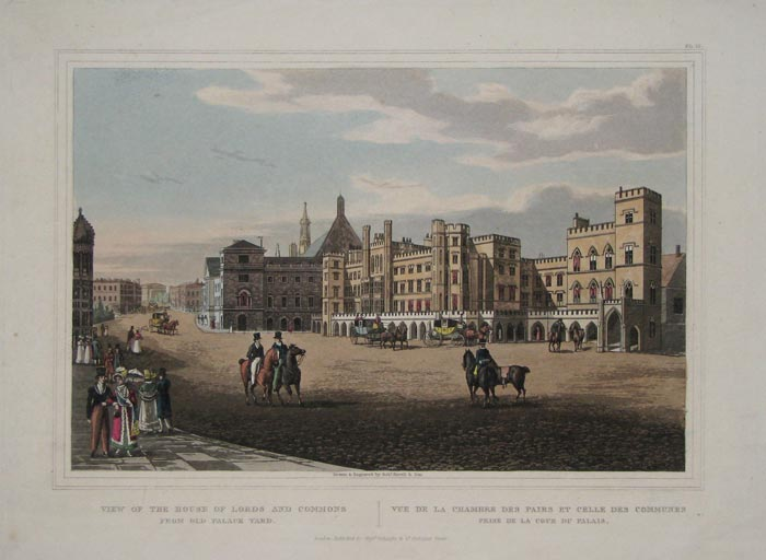 View Of The House Of Lords And Commons From Old Palace Yard.