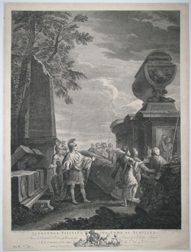 Alexander Visiting the Tomb of Achilles.