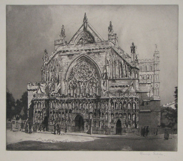 [Exeter Cathedral, West Front.]