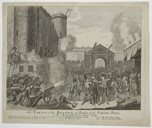 The Taking of the Bastile, at Paris, by the Patriotic Party on the Memorable 14th of July 1789.