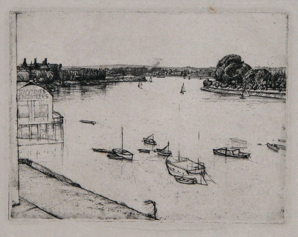 The Thames at Chiswick [pencil.]