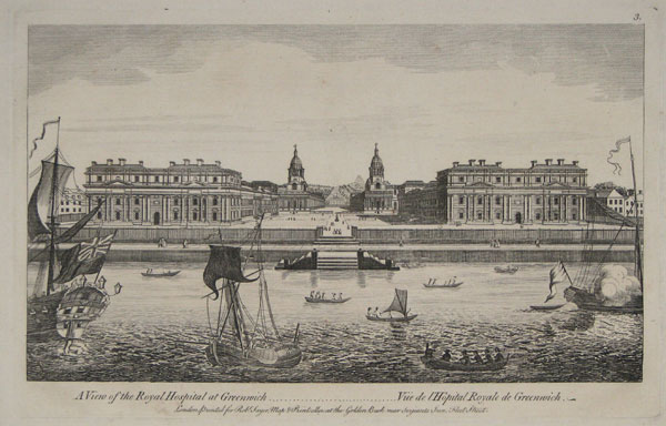 A View of the Royal Hospital at Greenwich.