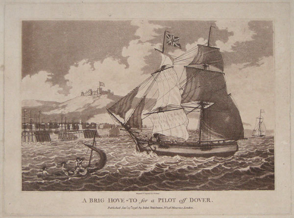 A Brig Hove-To for a Pilot off Dover.