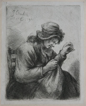 [A Woman Sewing.]