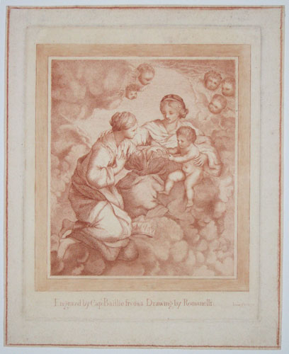 [The marriage of St Catherine.]  Engravd by Capt: Baillie from a Drawing of Romanelli: